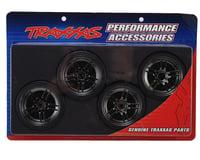 Traxxas 4-Tec 2.0 Fr/Rr Drift Tires/Black Chrome Wheels Assembled TRA8378