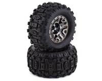 "Traxxas Glued Assembled Sledgehammer Tires and Black Chrome 2.8"" Wheels TRA9072"