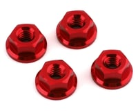 V-Force Designs M4 Serrated Flanged Nuts (Red) (4) (DragRace Concepts DR10 Drag Pak)