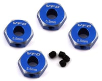 V-Force Designs Team Associated 12mm Hex Adapters (Blue) (4)