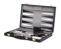Wood Expressions WE Games Black Backgammon Set- 14.75 inches