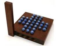 """Wood Expressions 49-6005 Marble Solitaire - 5"""" Travel Size"""