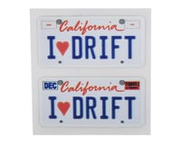 WRAP-UP NEXT REAL 3D U.S. Licence Plate (2) (I LOVE DRIFT) (11x50mm)