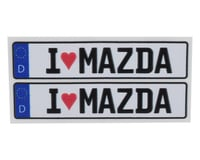 WRAP-UP NEXT REAL 3D  E.U. Licence Plate (2) (I LOVE MAZDA) (11x50mm) (MST RMX 2.0 S)
