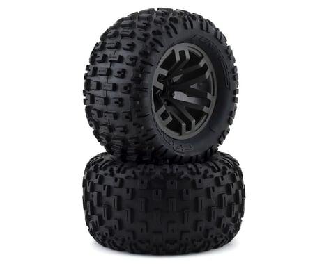 Arrma Glued Gun Metal Dboots 'Fortress MT' Tire Set (2) ARA550086