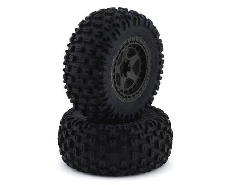 Arrma Glued Gun Metal Dboots 'Fortress SC' Tire Set (2) ARA550087