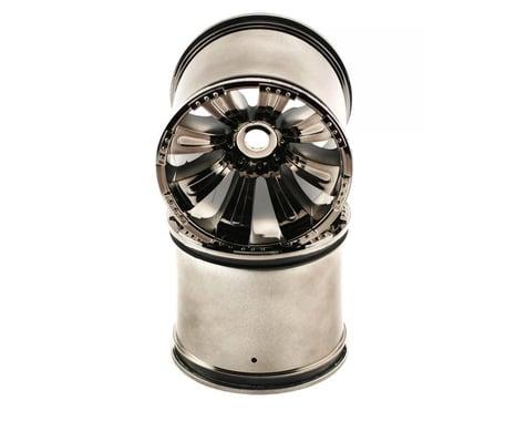 Axial 8 Spoke 40 Wheel Black Chrome (2) 17/14mm AXIAX8012