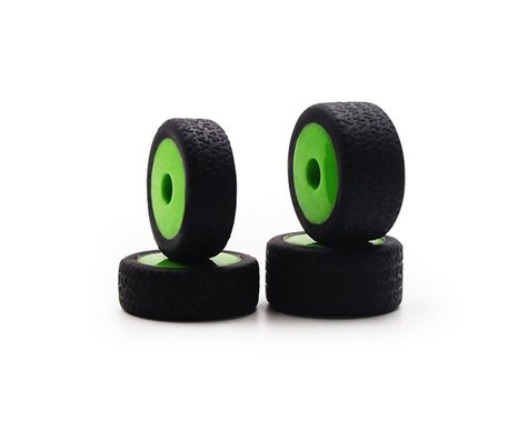 Carisma GT24B Mounted Tires on Green Wheels (4) CIS15638
