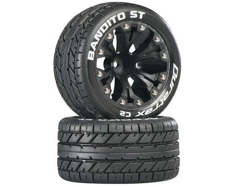 DuraTrax Bandito ST 2.8 Mounted Truck Tires 1/2 Offset Black DTXC3544