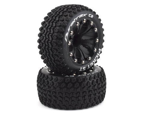 DuraTrax Picket ST 2.8 Mounted Truck Tires 2WD 1/2 Offset Black DTXC3550