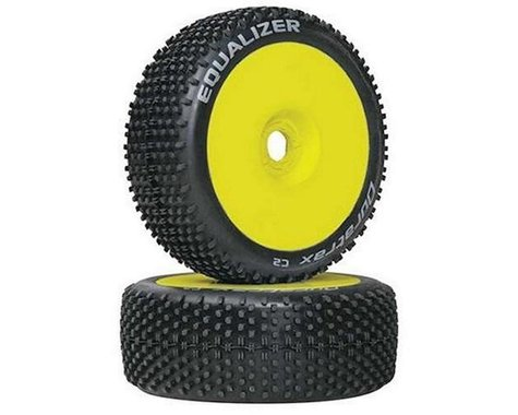 DuraTrax Equalizer Buggy Tire C2 Mounted Yellow (2) DTXC3647