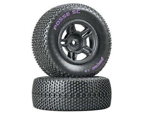 DuraTrax Posse SC Tire C2 Mntd Blk Slash Blitz SCRT10 (2) DTXC3695