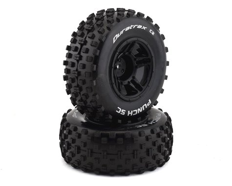 DuraTrax Punch SC C2 Mounted Slash Front Tires DTXC3704
