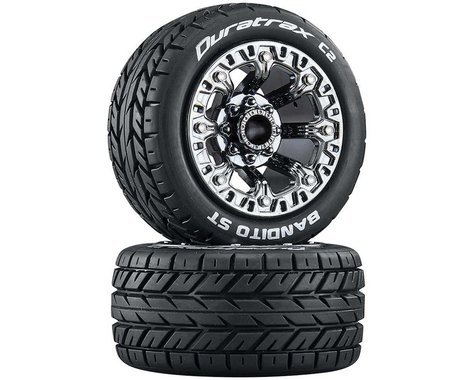 DuraTrax Bandito ST 2.2 Black Chrome Pre-Mounted Tires (2) DTXC5106