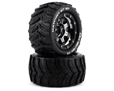"DuraTrax Hatchet MT Belt 2.8"" Mounted .5 Offset 17mm Black Chrome Front/Rear Tires (2) DTXC5607"