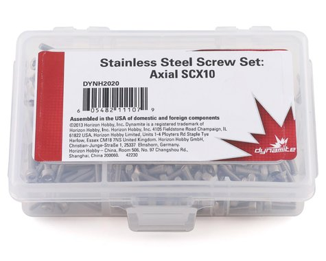 Dynamite Stainless Steel Screw Set Axial SCX10 DYNH2020