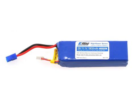 E-Flite LiPo Battery 11.1V 1800mAh 3S 20C 13AWG EC3 EFLB18003S