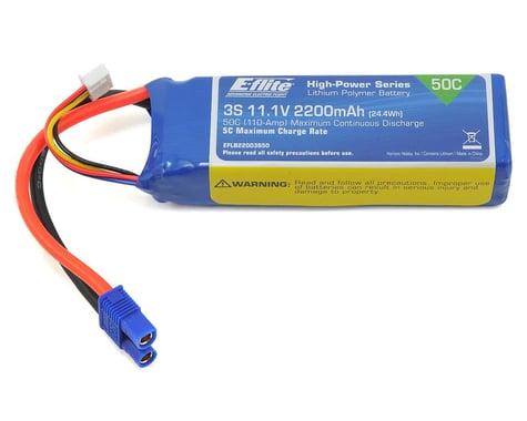 E-Flite LiPo Battery 11.1V 2200mAh 3S 50C 13AWG EC3 EFLB22003S50