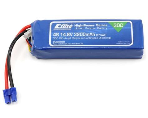 E-Flite LiPo Battery 14.8V 3200mAh 4S 30C 12AWG EC3 EFLB32004S30