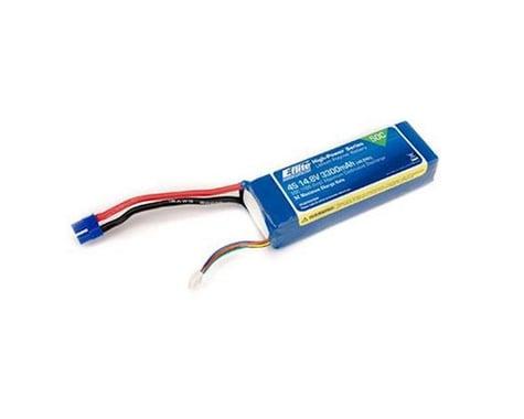 E-Flite LiPo Battery 14.8V 3300mAh 4S 50C 10AWG EC3 EFLB33004S50