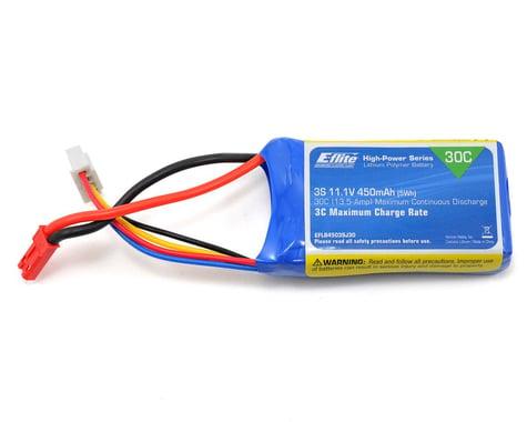 E-Flite LiPo Battery 11.1V 450mAh 3S 30C 18AWG JST EFLB4503SJ30