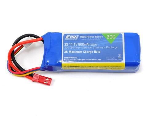 E-Flite LiPo Battery 11.1V 800mAh 3S 30C 18AWG JST EFLB8003SJ30