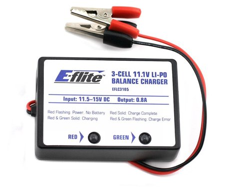 E-Flite LiPo Balancing Charger 3S 0.8A EFLC3105