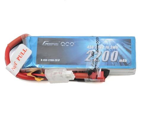 Gens Ace 2200mAh 7.4V 45C 2S1P Lipo Battery Pack with Deans Plug GA-B-45C-2200-2S1P-Deans