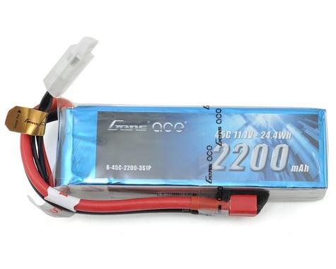 Gens Ace 2200mAh 11.1V 45C 3S1P Lipo Battery Pack with Deans Plug GA-B-45C-2200-3S1P-Deans