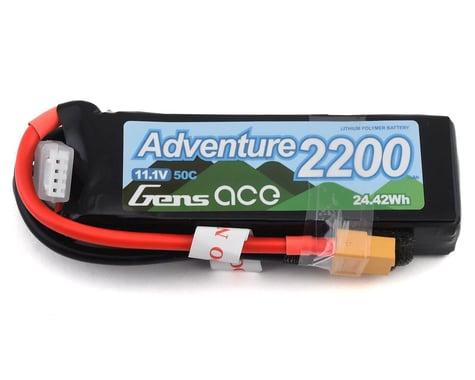 Gens Ace Adventure 2200mAh 3S1P 11.1V 50C Lipo Battery with XT60 Plug for RC Crawler GA-A-50C-2200-3S1P-XT60
