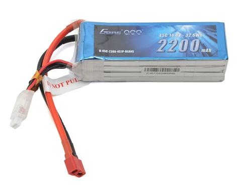 Gens Ace 2200mAh 14.8V 45C 4S1P Lipo Battery Pack with Deans Plug GA-B-45C-2200-4S1P-Deans