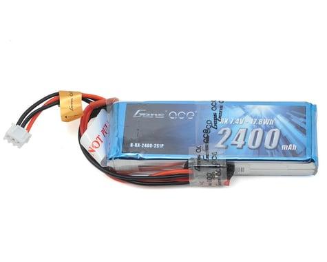 Gens Ace 2400mAh 7.4V RX 2S1P Lipo Battery Pack with JST-SYP Plug GA-B-RX-2400-2S1P-JST