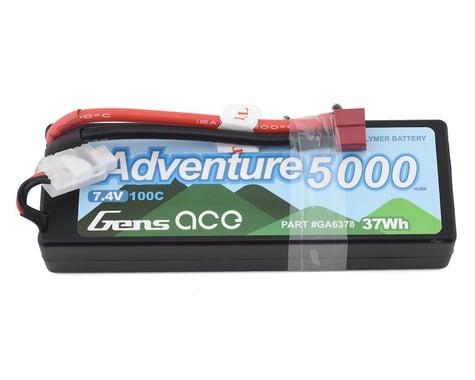 Gens Ace Adventure 5000mAh 7.4V 100C 2S1P HardCase Lipo Battery Pack 24# with Deans Plug GA-A-100C-5000-2S1P-HardCase-24