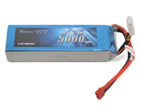 Gens Ace 5000mAh 14.8V 45C 4S1P Lipo Battery Pack with Deans Plug GA-B-45C-5000-4S1P-Deans