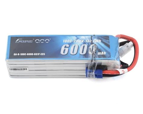 Gens Ace 6000mAh 22.2V 100C 6S1P Short Size Lipo Battery Pack with EC5 Plug GA-B-100C-6000-6S1P-EC5-S