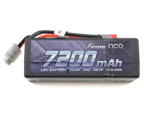 Gens ace 7200mAh 14.8V 70C 4S1P HardCase Lipo Battery w/Deans GA-B-70C-7200-4S1P-HardCase-14