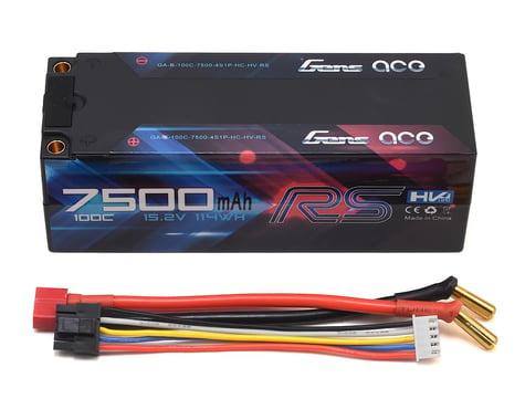 Gens Ace 7500mAh 4S1P HardCase 100C 15.2V Lipo Battery Pack #50 for RC Cars Racing Series GA-B-100C-7500-4S1P-HC-50-HV-RS