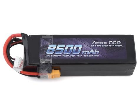 Gens Ace 14.8V 50C 4S 8500mAh Lipo Battery Pack with XT60 Plug for Xmaxx 8S Car GA-B-50C-8500-4S1P-XT60T