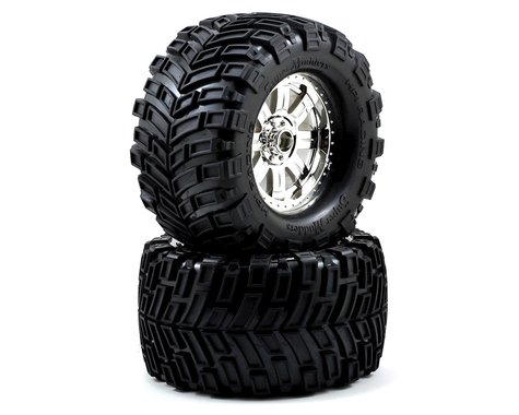 HPI Mounted Super Mudders TireRingz Wheel Shiny HPI4726