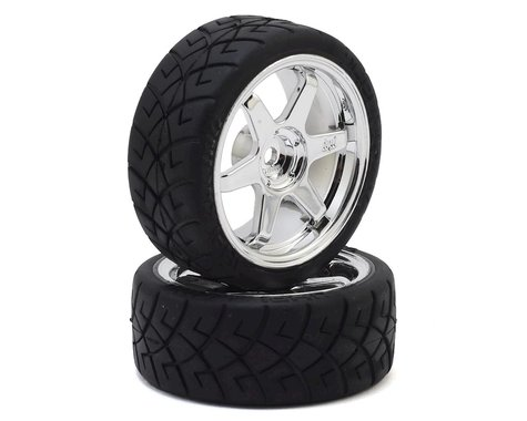 HPI Mounted X-Pattern Tire D Compound TE 37 3mm Offset HPI4734