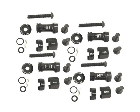 Hot Racing Aluminum 12mm Multi Width Hex Hub 30 to 60mm HRASCP10MW01