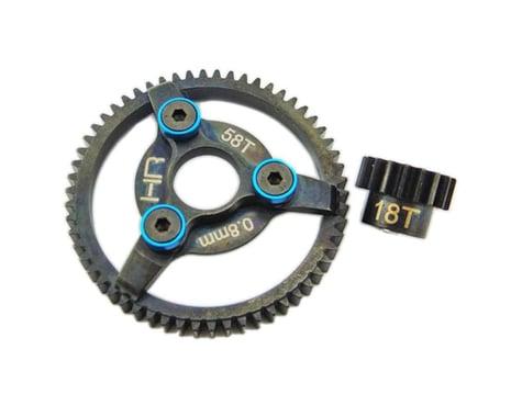 Hot Racing Brushless 18/58T 32P .8m Steel Gear Kit 3.22 HRASTE258