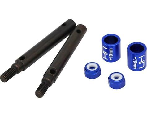 Hot Racing +10mm S2 Spring Steel Portal Drive Stub Axles HRASTRXF39W10