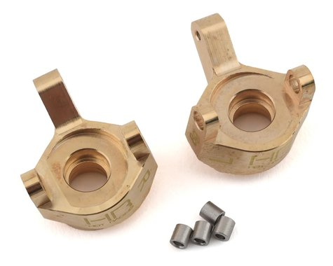 Hot Racing Brass Front Steering Knuckle SCX24 HRASXTF21H