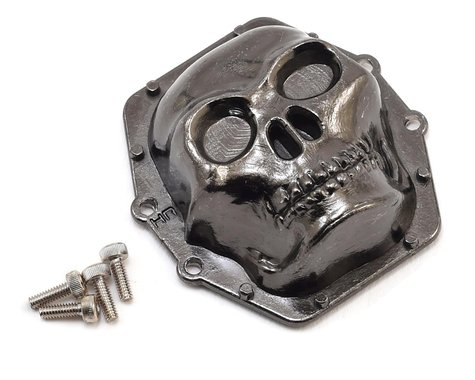 Hot Racing Metal Skull AR60 Diff Cover Black Chrome HRAWRA12CT01