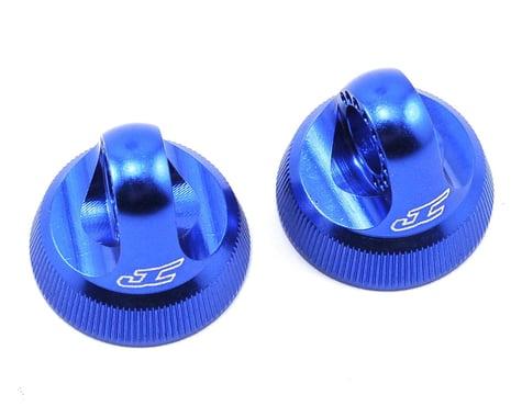 JConcepts Fin 12mm V2 Shock Caps in Blue JCO24901