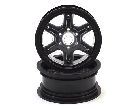 "JConcepts Dragon 2.6"" Mega Truck Wheel with Black Disc Adapters JCO3379B"