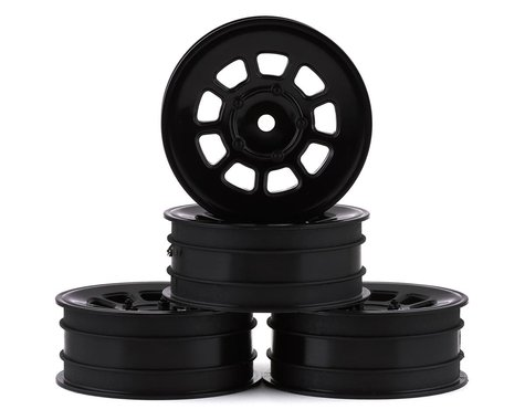 "JConcepts 9 Shot 2.2"" Front Wheel in Black (2pc) JCO3397B"