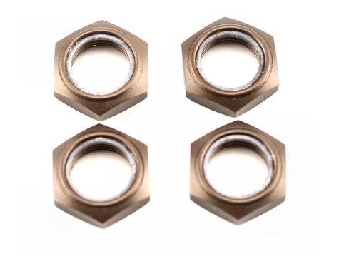 Kyosho Wheel Nut W/Nylon (Dark Metallic) (4)