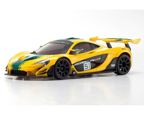Kyosho MR-03 W/MM McLaren P1 GTR Body Yellow/Green KYOMZP235YG-B
